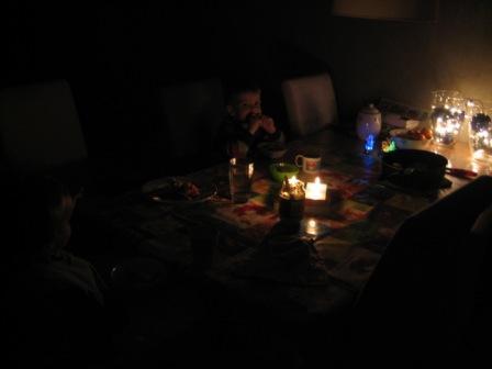 Eten met de lichtjes aan