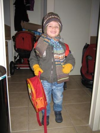 Martijn gaat naar school
