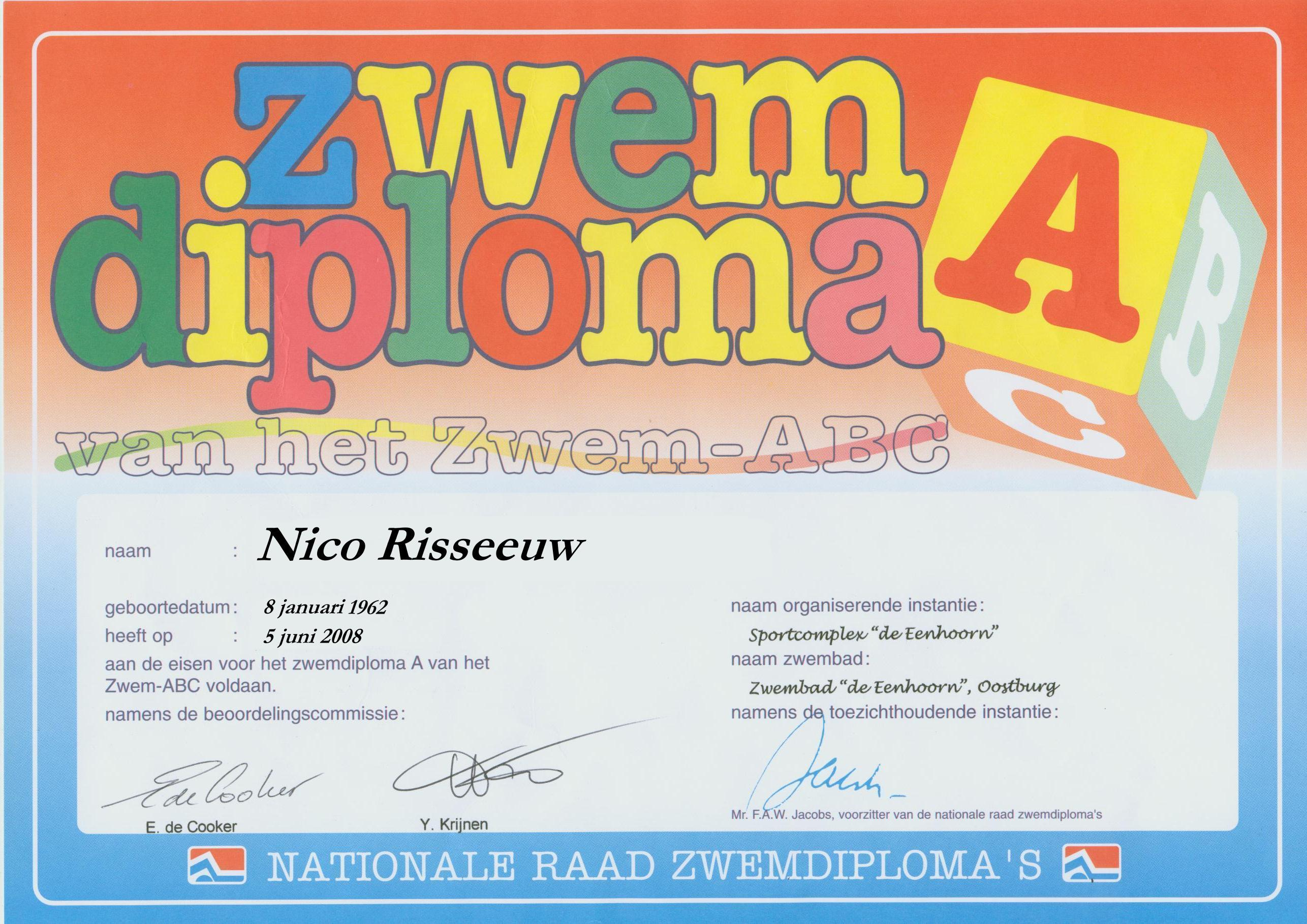 Fotoboek Diploma Zwemmen